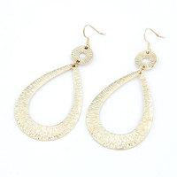 Korea Fashion Gold Silver Metal Earring Women Big Drop Dangle Earring