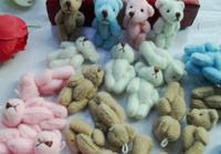 30PCS Kawaii Mini 3.5CM Joint Teddy Bear Plush Stuffed TOY DOLL ; Wedding Bouquet Bear DOLL For Wedding Gift Plush DOLL