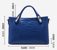Shoulder Portable Bag  Ms. Crocodile Diagonal Bags 6 Colours
