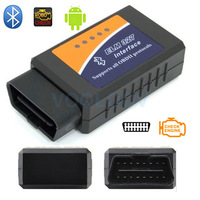 2014 New ELM 327 Bluetooth ELM327 OBDII / OBD2 V1.5 Vehicle Diagnostic Scanner Tool Reader Works On Android FREE SHIPPING