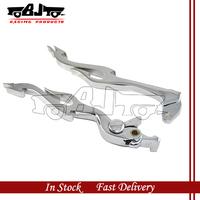 BJ-LS285-003 Chrome Alloy Motorbike Brake & Clutch Levers Set For 2001-2004 Suzuki GSX-R 1000