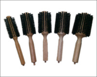 Wooden Hair Brush With Boar Bristle Mix Nylon Professional Round Hair Brush GIC-HB509 (5pcs/set) Free Shipping