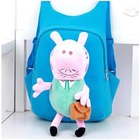 2014 New Peppa pig bag for children's school backpacks,kids backpack of lovely cartoon mochila peppa pig backpack