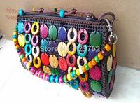 New arrival creative handbag Coconut shell Bohemian bag edition handbag purse Hainan flowers shell crafts pack