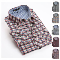 2014 autunm new Men's brand shirts Long sleeve casual plaid Flannel sueded shirts for men Thick warm shirt man big size