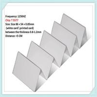 1000pcs/lot  Reader write chip T5577 RFID blank pvc card by DHL