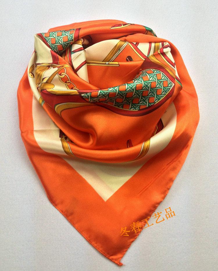 Free shipping ! fashion summer satin square desigual silk scarf,90x90cm, beautiful hijab for women(China (Mainland))