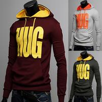 2014 male autumn sweatshirt male fashion all-match pullover sweatshirt letter print outerwear