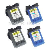 2PK Black For HP21 ink cartridge +2PK  Color Ink Cartridge For HP 22