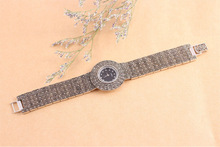 2014 New Fashion 925 sterling pure Thai Silver Classic Vintage High Quality Quartz Watches Women Wristwatches