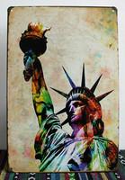 20*30CM USA Freedom Mark Tin Sign Bar Pub Wall Decor Home Poster Retro Plaques Home Iron Painting