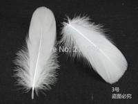 10-15cm White Goose Feather, 100pcs / lot Wedding Shoes Decoration, Wedding Decor