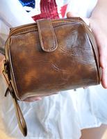 2014 vintage leather brief lomo camera bag messenger bag female bags small bag