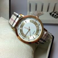 100pcs/lot New 2014 Hot Sale Quartz Wristwatches Retro Fashion Casual Joker Lattice Leather Strap Watches Women Dress Watch