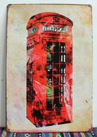 20*30CM TELEPHONE Retro Metal Signs Bar Pub Wall Decor Tin Sign Vintage Plaques Iron Painting