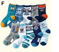 10pairs/lot children  socks Cotton boy  socks 19-23cm