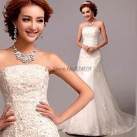 Cii korean version bride bra bandange lace wedding dress mermaid fishtail trailing wedding gown