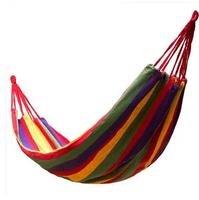 GS0116 Single Hammock camping survival hammock canvas cloth outdoor or indoor leisure 200*100cm bear 100kg