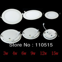 New 3w/4w6w/9w/12w/16w Panel Light Super Thin White/Warm White LED Ceiling Light