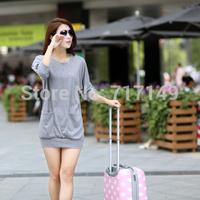 S-3XL bat sleeve blouse 2014 autumn fashion loose breathable comfortable women's casual cotton T shirt