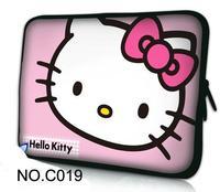 "Pink Kitty Laptop Sleeve Neoprene Bag Case Cover For 10.1"" 11.6"" 12"" 13.3"" 14"" 15"" 15.6"" HP Dell Thinkpad Acer Apple Samsung"