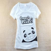New arrival 2013 summer women's cartoon panda slim short design short-sleeve T-shirt SZB-5018