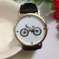 65pcs/lot, new fashion Geneva style match bike print wrist watch hot woman man no logo quartz watches hot woman dress watches.