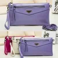 New Arrival Metal LOGO Brand Design Napa Leather Handbags Women Evening Clutch Bag Messenger Shoulder Bags Purse with Belt A569
