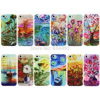 Abstract Flower Print Hard PC Case for Apple iPhone 5 5G 5S Back Cover Capa Celular K20209