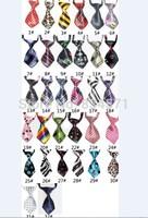 Free shipping wholesale 100pcs/lot pet dog tie Pet Costumes Dog Clothing 32 colors necktie pet accessories mix color
