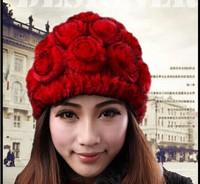 Fur hat 2013 fur hat rabbit fur Women women's fur woven hat