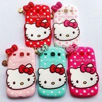 Cute Hello Kitty Cat Silicone Cases For Samsung Galaxy S3 Mini i8190 Galaxy Win i8552 Galay Core i8262 Galaxy Grand Duos i9082