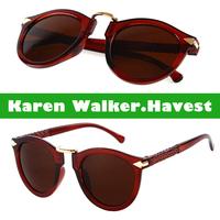 Super Brand Designer Round Vintage Sunglasses Women Ladies Beauty Eyewear Glasses Gradient Lens oculos de sol femininos