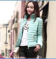 Winter Women's Coats Casaco Feminino Inverno 2014 Slim Office Epaulet Zippers Ladies Down Coat Casacos Plus Size Free Shipping