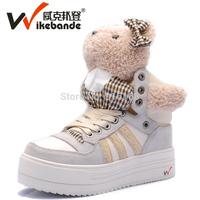 sapatilhas femininos 2014 autumn genuine brand high shoe woman flats low boots platform little bear walking espadrilles sneakers