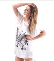 10pcs one lot Faux Silk Women Print Patterns Nightgown Large Size Graceful Ladies Stain Sleep dress Butterfly Sleeves Nightwear