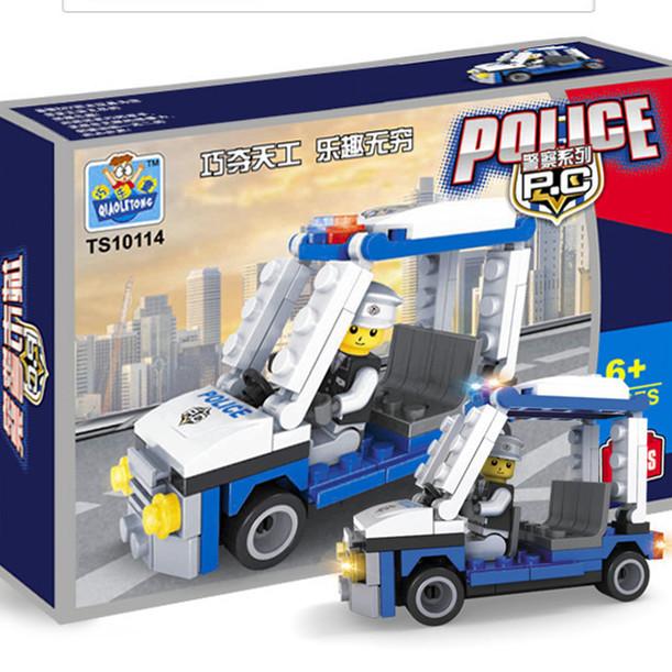 2014 New Plastic Toy Model Building Kits Police Patr