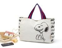 Environment friendly canvas shopping bags cute little fresh canvas bag cartoon hand carry bag, Bulk order $0.98