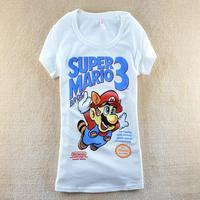 New arrival 2014 summer women's cartoon super man slim short design short-sleeve T-shirt SZB-5026