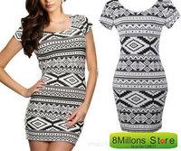 Summer wear new Tight geometry package hip print dress Geometric designer dress SDR#35