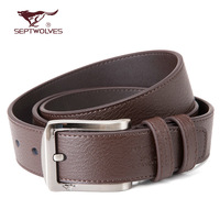 Pin buckle belt  SEPTWOLVES strap male genuine leather business casual male belt