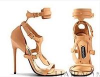 2014 Latest Tomfor women's knee boots Sexy sandals GZ brand design footwear heels Metal Series nightclub shoes Free ship