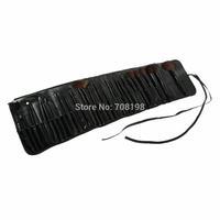 5set 32 pcs Cosmetic Facial Make up Brush Kit Makeup Brushes Tools Set Black Leather Case Free Shipping