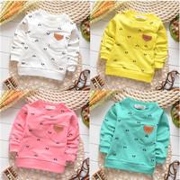 unisex cartoon simple boys cotton baby children sweatshirts hoodies drop shippig KT208R