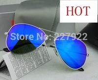 2014 New Arrived Ray Men Women Designer Aviator Sunglasses B Gold Frame green Iridium Lens 58mm 3025