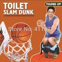Toilet Bathroom Mini Basketball Slam Dunk Fun Game Gag Novelty Gift Present