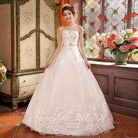 The new 2014 high-end wedding dress princess bride wedding Korean Qi Bra satin zipper
