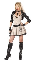Ladies Cop Fancy Dresses Adult Fever Womens Policewomen Uniform Halloween Party Fantasia Pleated Mini Dress Outfit Brand New