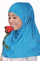 syf101 new style muslim beads hijab,islamic scarf free shipping by DHL,fast delivery,assorted colors
