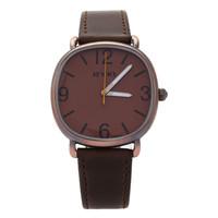 Best Gift Original Eyki Brand Unisex Mens Womens New Design Quartz Watch Vintage Bronze Overgild Leather